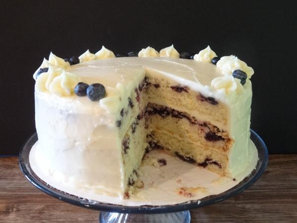 Lemon Blueberry Cake Beckys Baking Delights